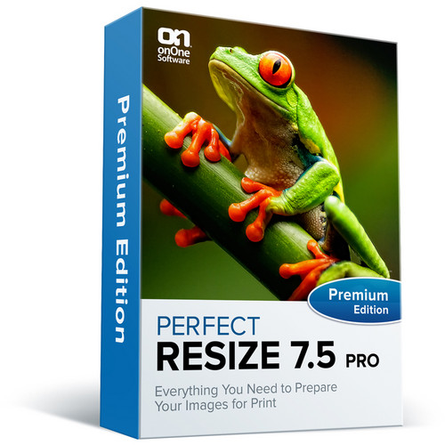 onOne Software Perfect Resize 7.5 Pro Premium Edition Software (Academic / Government, CD/DVD-ROM)