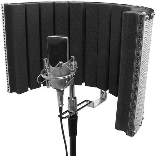 "On-Stage Isolation Shield and Stand-Mounted Acoustic Enclosure (18.5 x 12"")"
