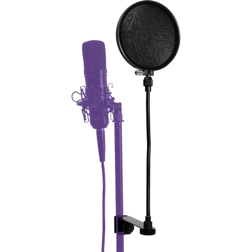 "On-Stage Pop Blocker with 12"" Flexible Gooseneck & Replacement Liners"