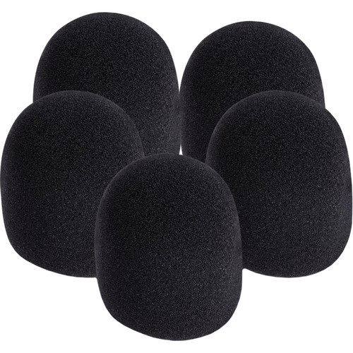 On-Stage Foam Windscreen for Handheld Microphones (5-Pack, Black)
