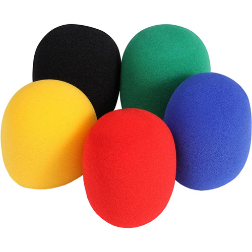 On-Stage Foam Windscreens for Handheld Microphones (5-Pack, Colors)