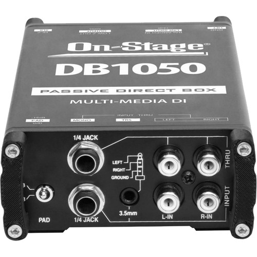 On-Stage DB1050 Passive Multimedia DI Box with Stereo-to-Mono Summing