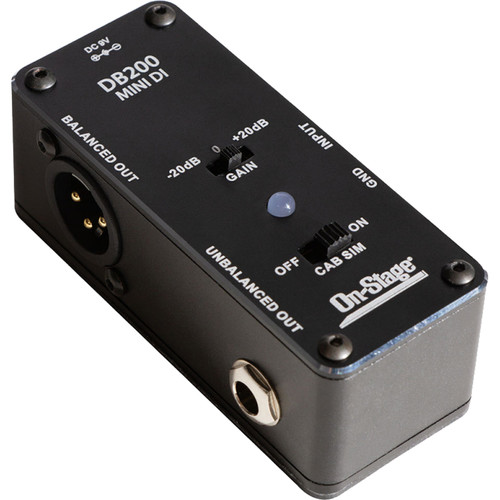 On-Stage Mini DI Box for Guitar/Bass/Keyboards