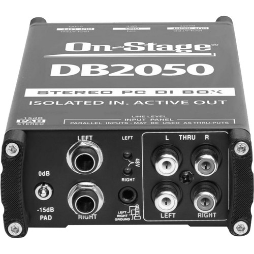 On-Stage DB2050 Active Stereo Multimedia DI Box