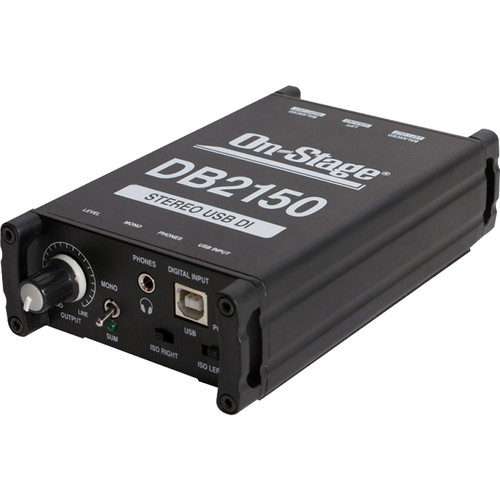 On-Stage DB2150 Stereo USB DAC - Direct Box