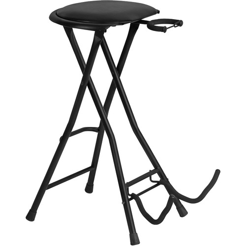 On-Stage DT7500 Guitarist Stool with Integrated Guitar Stand
