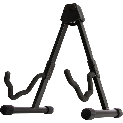 On-Stage GS7364 Collapsible A-Frame Guitar Stand (Black)