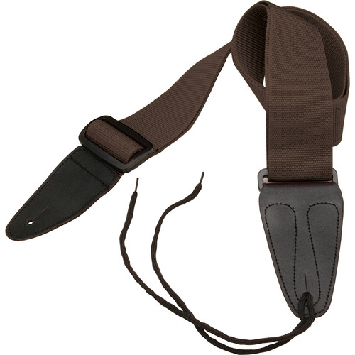 """On-Stage GSA10BR Guitar Strap with Leather Ends (31 to 52"""", Brown)"""