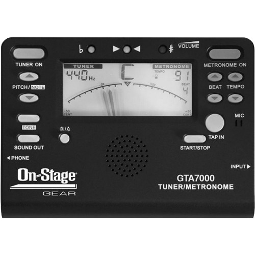 On-Stage Chromatic Tuner, Metronome, Tone Generator