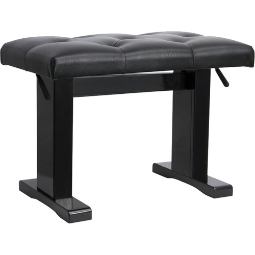 On-Stage KB9503B Piano Bench with Adjustable Height (Black)