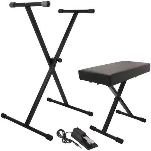 On-Stage Keyboard Stand/Bench Pak with KSP100 Sustain Pedal