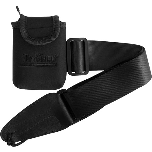 On-Stage MA1335 Wireless Transmitter Pouch with Guitar Strap