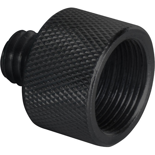 "On-Stage 3/8"" Male to 5/8"" Female Adapter (Black)"