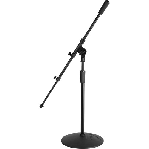 """On-Stage MS9417 Pro Kick/Amp Mic Stand with Telescoping Shaft and Adjustable Boom (Height: 17 to 28.5"""")"""