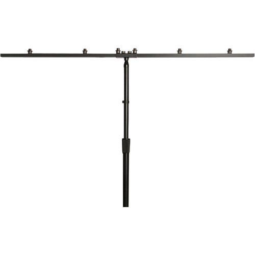 On-Stage Mic / Antenna Bar for Mics and Speakers (Black)