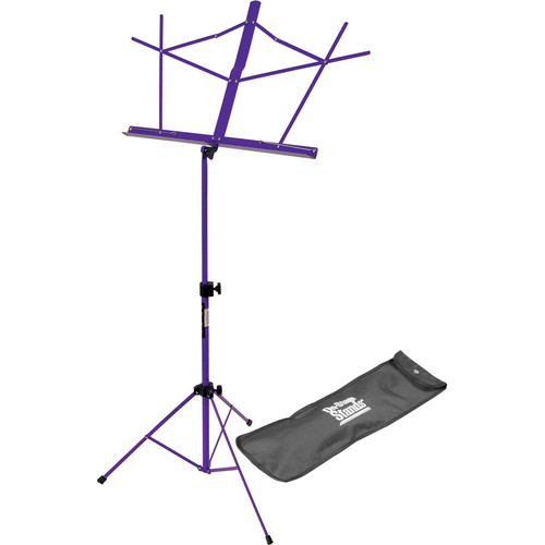 On-Stage SM7122PB Compact Sheet Music Stand (Purple, with Bag)