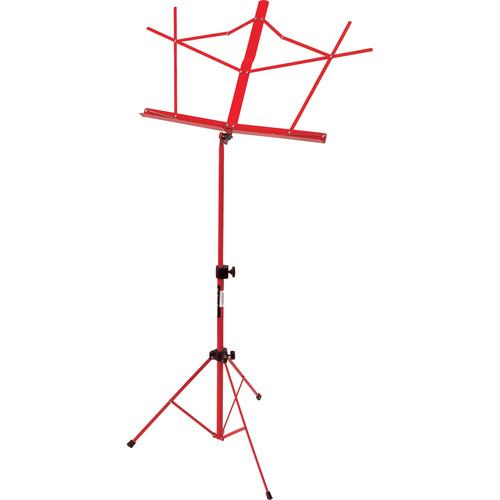 On-Stage SM7122RB Compact Sheet Music Stand (Red, with Bag)