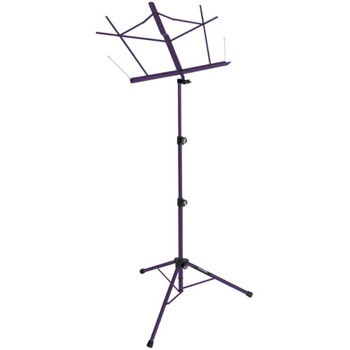 On-Stage Tripod Base Sheet Music Stand (Purple,, with Bag)