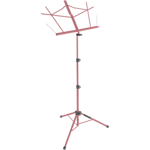 On-Stage Tripod Base Sheet Music Stand (Pink, with Bag)