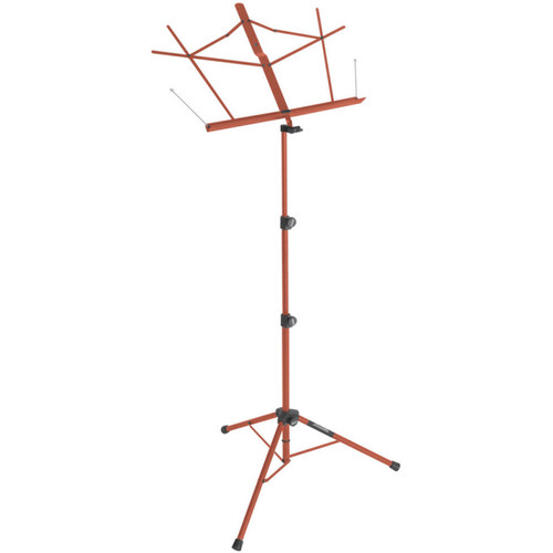 On-Stage Tripod Base Sheet Music Stand (Red, with Bag)