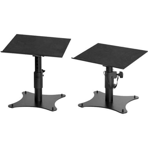 On-Stage SMS4500-P Adjustable Desktop Monitor Stands (Pair, Black)