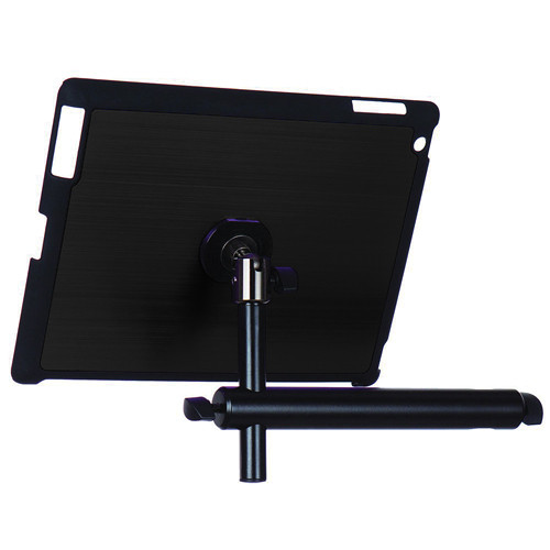On-Stage Tablet Mounting System with Snap-On Cover for iPad 3/4 (Black)