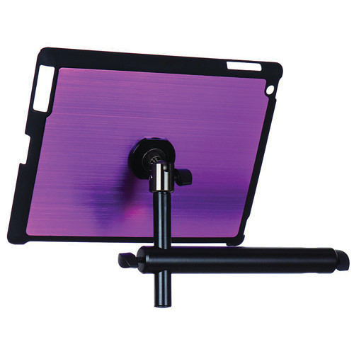 On-Stage Tablet Mounting System with Snap-On Cover for iPad 3/4 (Purple)