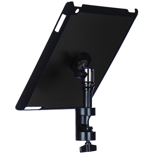 On-Stage Quick Disconnect Tablet Mounting System with Snap-On Cover for iPad 2 and 3 (Round Mount, Gun Metal)