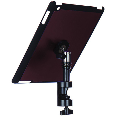 On-Stage Quick Disconnect Tablet Mounting System with Snap-On Cover for iPad 2 and 3 (Round Mount, Mauve)