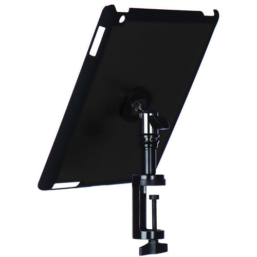 On-Stage Quick Disconnect Table Edge Tablet Mounting System with Snap-On Cover for iPad 2 and 3 (Black)