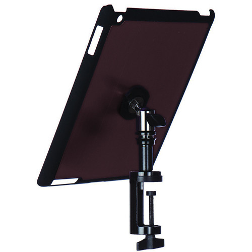 On-Stage Quick Disconnect Table Edge Tablet Mounting System with Snap-On Cover for iPad 2 and 3 (Mauve)