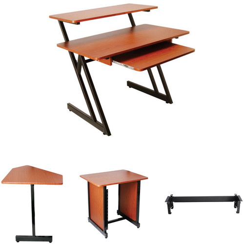 On-Stage WS7500 Complete Studio Workstation Kit (Rosewood with Black Steel)