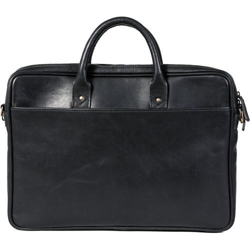 "ONA The Leather Kingston 15"" Laptop Briefcase(Black)"