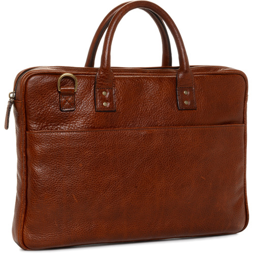 "ONA The Leather Kingston 15"" Laptop Briefcase(Walnut)"