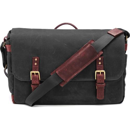 ONA The Union Street Messenger Bag (Black, Waxed Canvas & Leather)