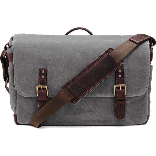 ONA Union Street Messenger Bag (Smoke, Waxed Canvas & Leather)
