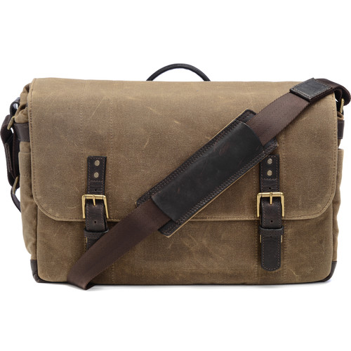 ONA The Union Street Messenger Bag (Ranger Tan, Waxed Canvas & Leather)