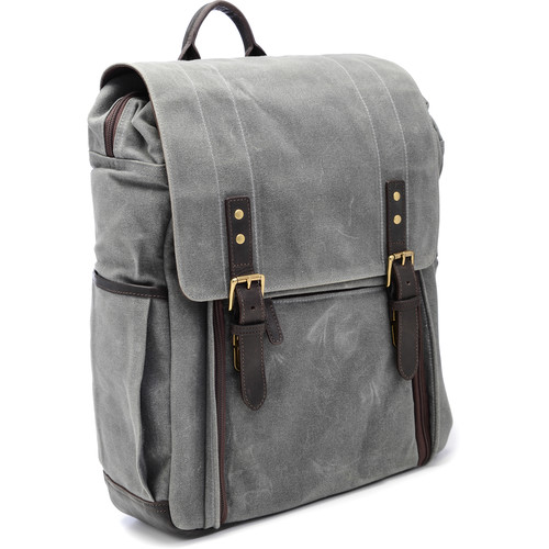 ONA The Camps Bay Backpack (Smoke, Canvas/Leather)