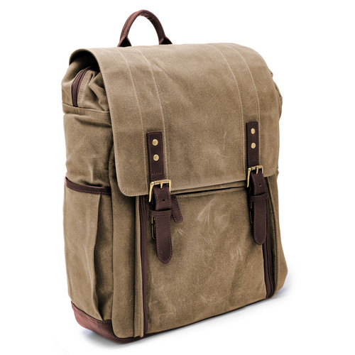 ONA The Camps Bay Backpack (Field Tan, Canvas/Leather)