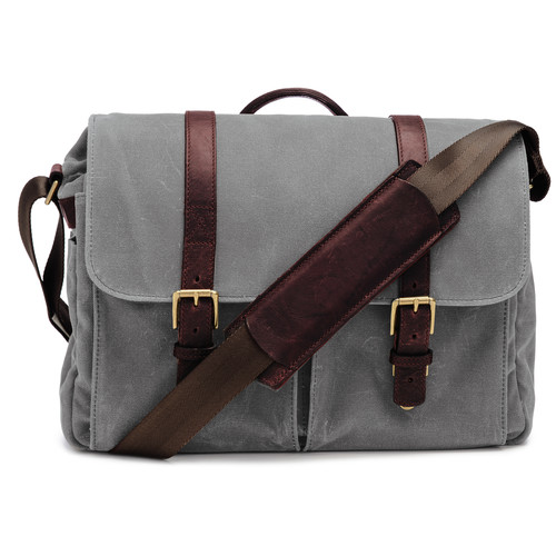 ONA Brixton Camera/Laptop Messenger Bag (Canvas, Smoke)