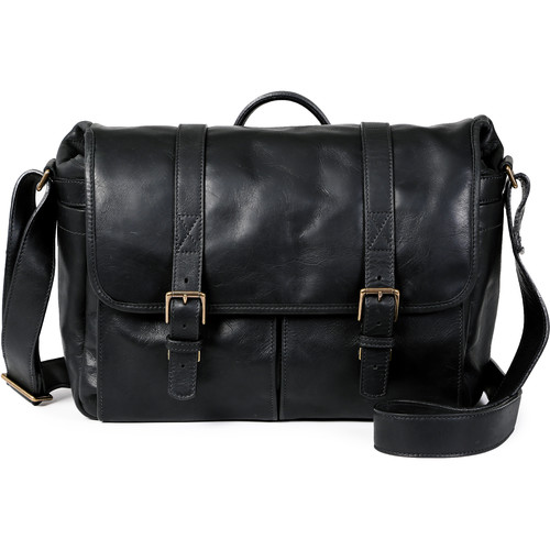 ONA Brixton Camera/Laptop Messenger Bag (Leather, Black)