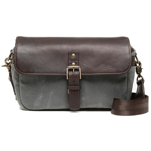 ONA Bowery 50/50 Camera Bag (Leather/Canvas, Smoke/Dark Truffle)