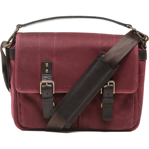 ONA Prince Street Camera Messenger Bag (Crimson, Waxed Canvas)