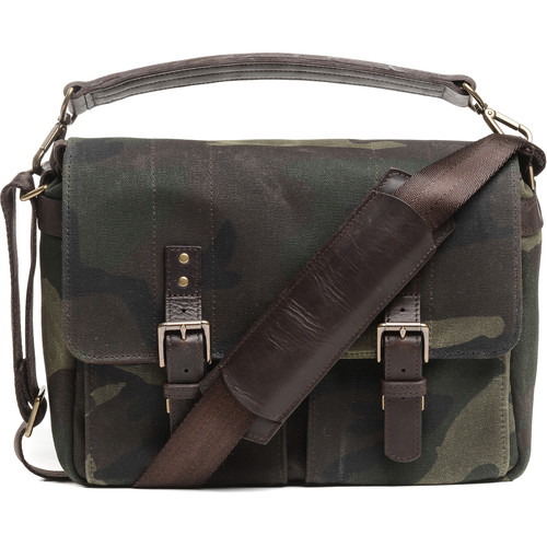 ONA Prince Street Camera Messenger Bag (Camouflage, Waxed Canvas)