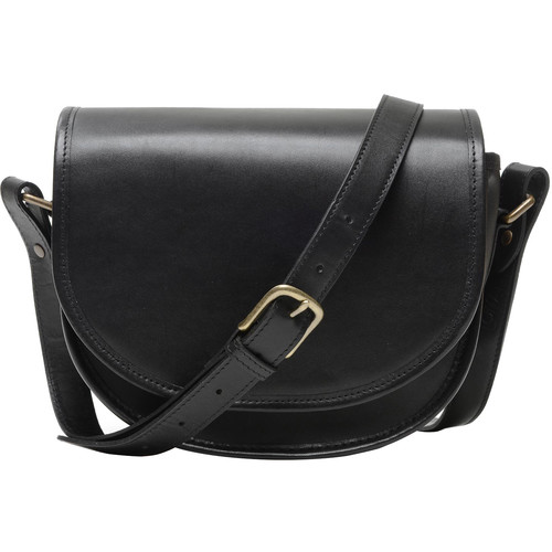 ONA Savannah Leather Camera and Everyday Crossbody Bag (Black)
