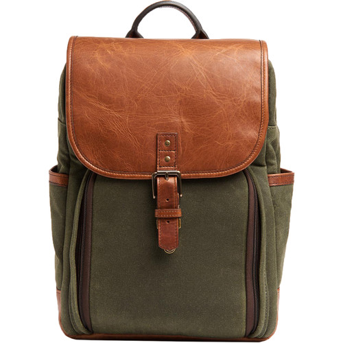 ONA Monterey Backpack (Olive and Antique Cognac)