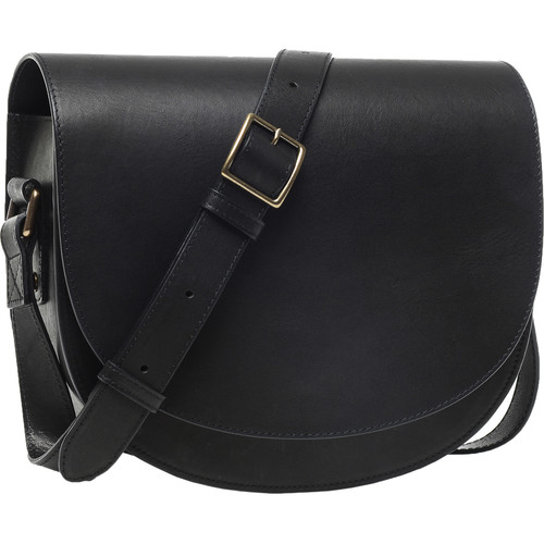 ONA Savannah II Leather Camera and Everyday Crossbody Bag (Black)