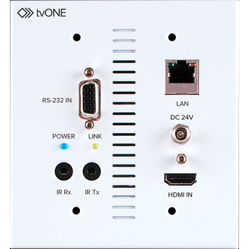 TV One 1T-CT-653-USWP HDMI Transmitter with 2-Gang Wall Plate