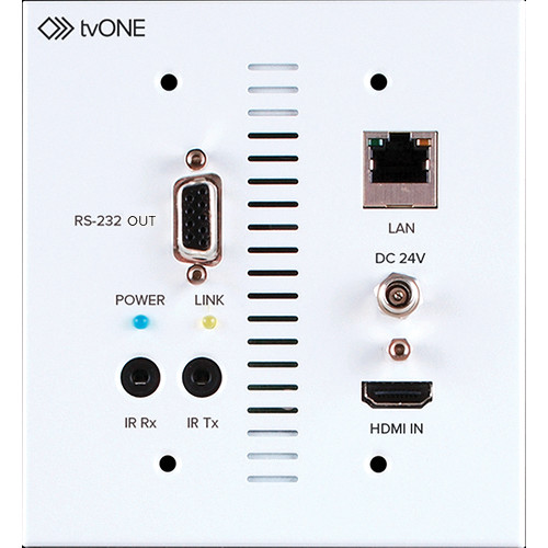 TV One 1T-CT-654-USWP HDMI Receiver with 2-Gang Wall Plate
