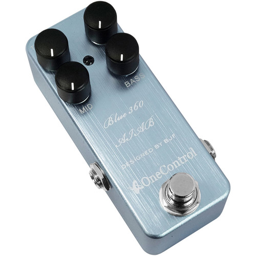 OneControl Blue 360 Bass Preamp Pedal - Amp In A Box (AIAB) - AcoustIc 360 Amp Emulator Pedal